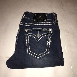 Miss Me Signature Boot Blue Jean Size 32X32